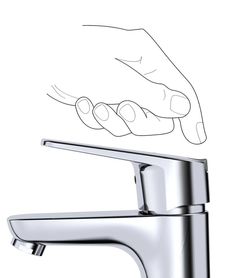 Faucet and hand_eco button