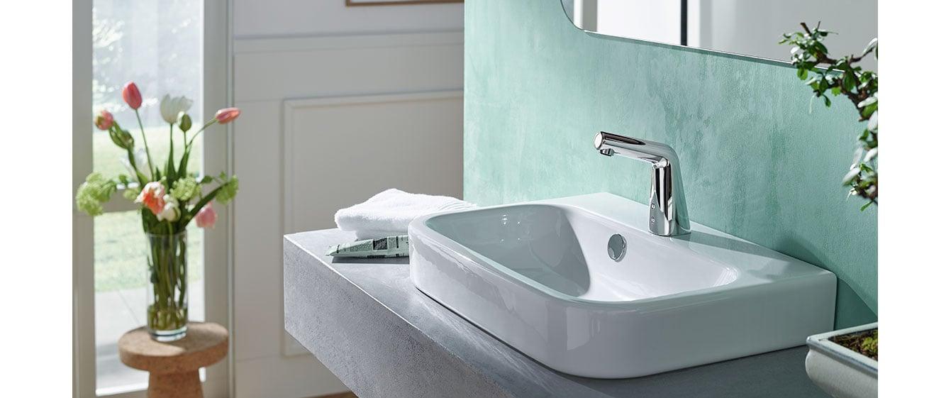 Oras Inspera berøringsfri håndvaskarmatur.